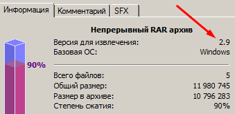 RAR 2.9