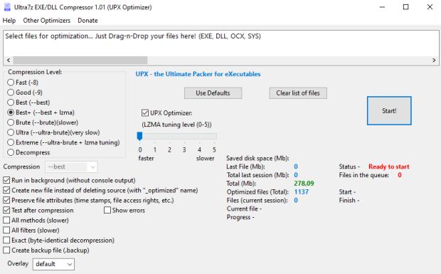 Ultra7z EXE/DLL Compressor 1.01 (UPX Optimizer) (English)