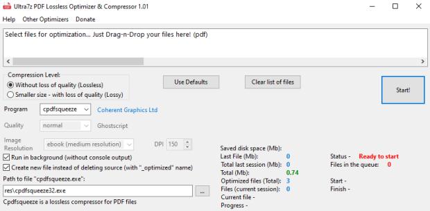 Ultra7z PDF Lossless Optimizer & Compressor 1.01 Portable